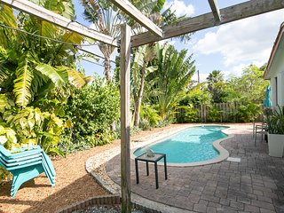 Dog-friendly home w/ a private pool & tree-lined terrace - easy drive to beach!