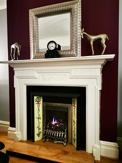 Beautiful fireplace in the livingroom of The Grand.