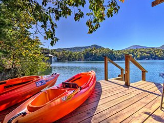 Quiet Lake Lure Cottage w/Boathouse, Sunroom+Decks