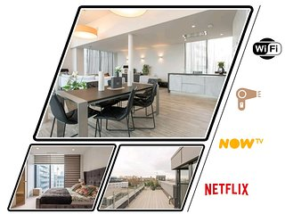 Luxury En-Suite Double Room/ W Roof Terrace & Netflix