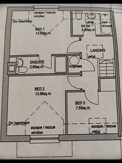 Floor plan. Total area 1,025 sqft