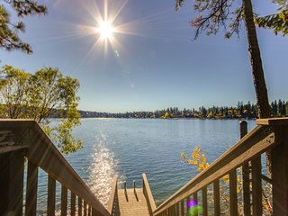 Family-friendly, lakefront home w/ dock & boat slip, stunning lake & mtn view