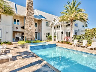 Stunning 3-home property w/ pool, hot tub & luxurious grounds - walk to beach!