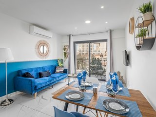 Intense Blue 2 BDR with balcony & view in City Center, Even Israel