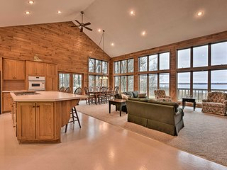 NEW! Expansive Lakefront Getaway w/ Spacious Deck!