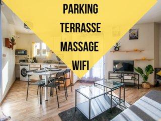 Résidence peuple la lance, Terrasse/double parking privé/Arrêts de bus à 1mn