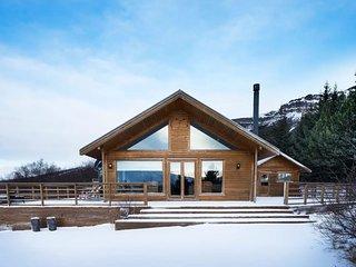 Stunning luxury Villa by the lake Skorradalsvatn in West Iceland.