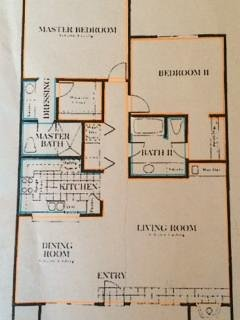 Floor plan of the unit.