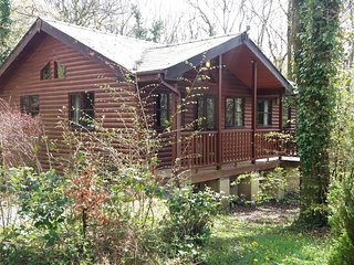 Goldcrest 1-Hot Tub-Woodland Lodges-Carmarthenshire-Tenby