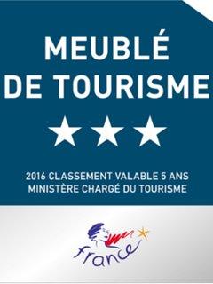 Le gite du vieux lormont est classé meublé de tourisme 3 étoiles.