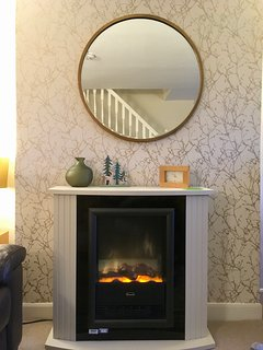 Central heating and feature fireplace