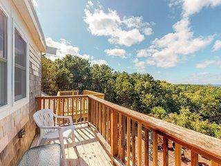 Renovated home w/ amazing bay view & multiple decks - near beach, dogs OK!