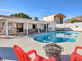 NEW! Desert Refuge w/ Pool, Yard + Mountain Views!