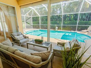 Newly furnished Briarwood pool home w/incredible game room & private outdoor ent