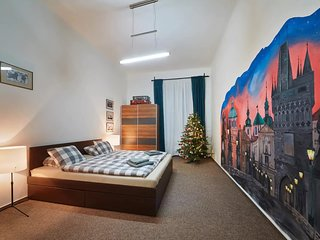 Prague themed one bedroom apartment near the centre by easyBNB