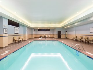 Hearing Accessible Suite Near Downtown with FREE Shuttle, Breakfast, and Pool