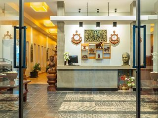 Double room in hotel historical style Angkor