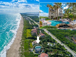Chateau de la Mer: 9BR/5.5BA Beachfront Estate w/ heated POOL, elevator & more!