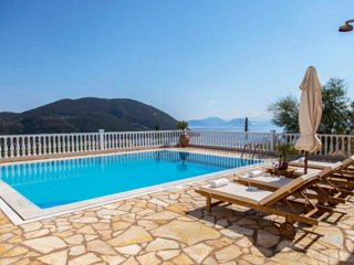 Special Offers: 2 bedroom apartment with pool and view in Vasiliki, Lefkada