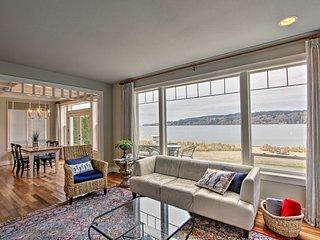 NEW! Private Beachfront Retreat near Gig Harbor!