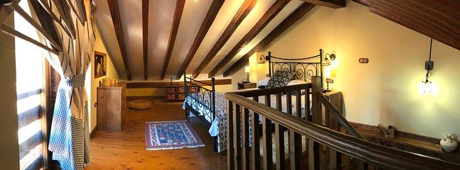 Master bedroom with views of the Picos de Europa