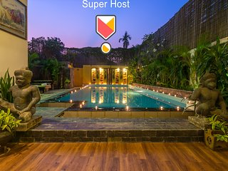 Temple House With Private Pool, close to City Center and Angkor