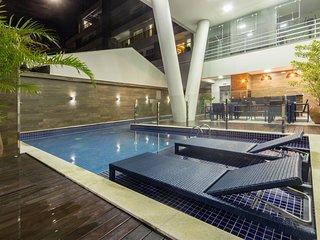 Apto Novo 2 suites 05 pessoas Condominio com Piscina - Centro de Bombinhas