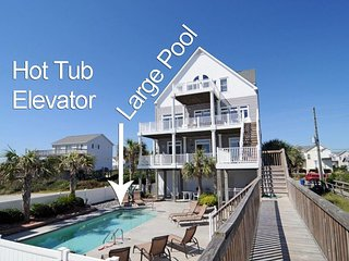 Island Drive 3568 Oceanfront! | Private Heated Pool, Hot Tub, Elevator, Jacuzzi,