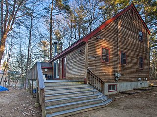 NEW! Lakeview Forest Cabin w/ Deck, Walk to Beach!
