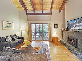 New Listing! Upscale Condo w/ Pool & Fireplace - Walk to Lake, Near Skiing