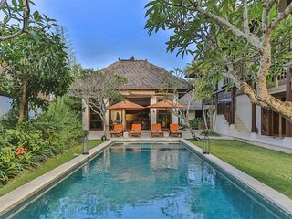 Walk to Jimbaran Beach from a Spacious Designer Villa by Nakula