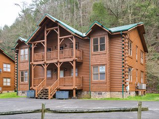 Serene creekside cabin w/ a private hot tub & woodland views!