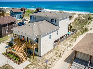 Sandfiddler | Oceanfront | Dog Friendly, Private Pool, Hot Tub | Nags Head