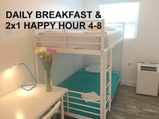 2 BUNK BED SUITES Side by Side - SLEEP 24: WALK TO EVERYTHING!