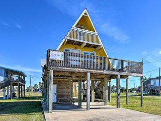 NEW! A-Frame Bungalow w/ Deck - 2 Blocks to Beach!