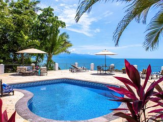 luxury beachfront villa located in lower Conchas Chinas,full staff private pool