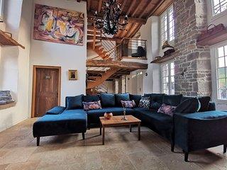 Luxury cottage with a jacuzzi - River view - La Vieille Dame