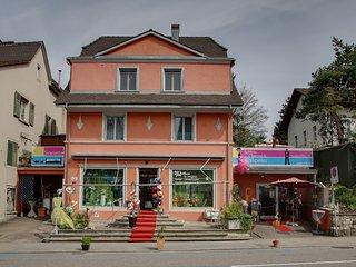 6-8 Zimmer Hausteil 13-15 Betten im Herzen Dornachs 2min. Bhf 10min. Basel SBB