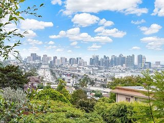 Mission Hills Victorian Home | Private Yard & Balcony with Downtown Views