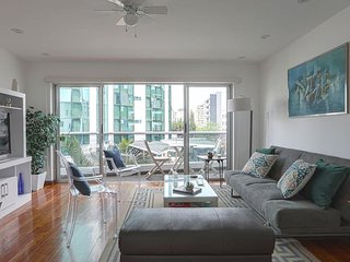 Explore the city from this apt with sunny balcony