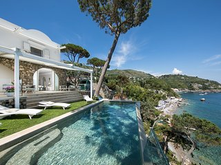 Villa Ibiscus with Infinity Pool, Direct Sea Access, Sea View, Parking and Break