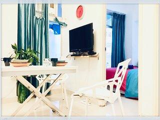 Cozy 2Bdr/wz Priv. Garden/Mong Kok/Ladies' Mkt/Langham place朗豪坊