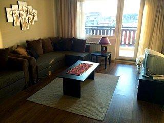 Spacious family apartment opposite the Gondola with stunning views.