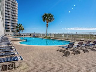 Beachfront condo w/ access to shared pools, hot tubs, fitness center & sauna!