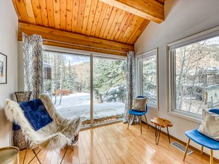 Updated, modern, spacious & dog-friendly mountain cabin w/great mountain views!
