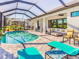 Spacious family home located on golf course w/ screened in pool