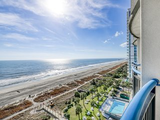 Wonderful oceanfront condo with balcony, shared pools & beach access!