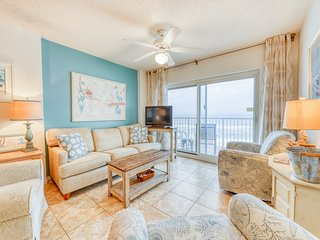 Beachfront condo w/ a shared, swim-through, indoor/outdoor pool