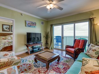 Gulf-front beach condo w/ deck & resort hot tub, pools, gym, and sauna!