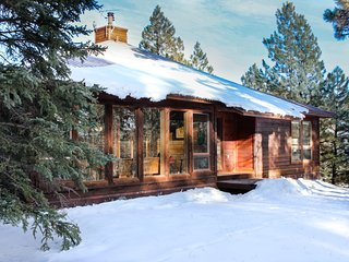 Secluded forest cabin w/ private hot tub, shuffleboard table, & mountain views!